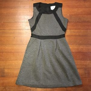 Anthropologie Tabitha Gray and Black Dress