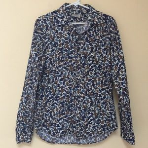 BURBERRY BRIT NWOT Floral Patterned Collared Shirt