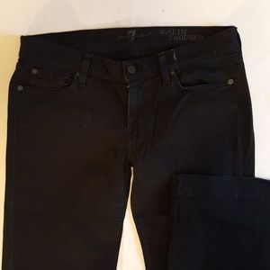 Black 7 for all mankind slim trouser jeans sz 32