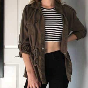 Sanctuary Olive Green Shirt Jacket