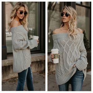 Sweaters - 2 left! ABBY Off Shoulder Sweater