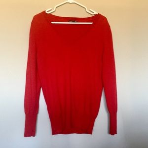 Banana republic 100% merino wool red sweater