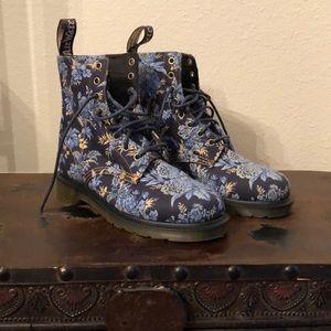 Denim Floral Dr. Marten Boots BECKETT