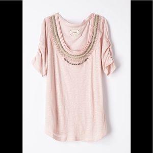 NWOT Deletta Pink Jewelscape Tee