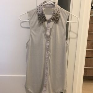 Grey Silence and Noise Urban outfitters top S