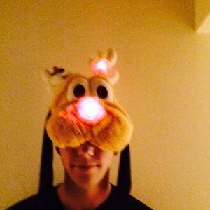 Plush Pluto Light Up reindeer Hat
