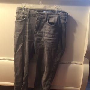 Nwot 7 for all mankind grey jeans
