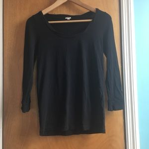J Crew Black cotton top