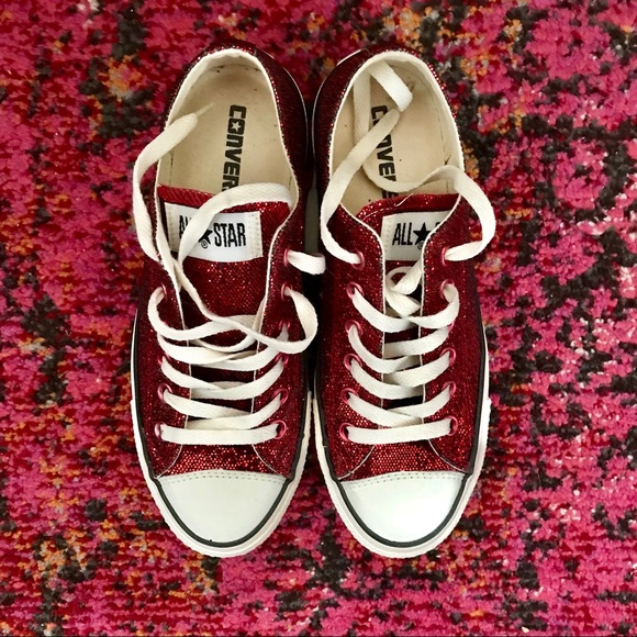 242a649e49a9 Converse Shoes - Sparkling Ruby Red Slipper Converse All-Stars