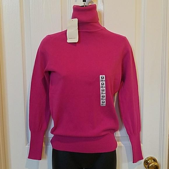 3739e7f9dcb NWT Zara Hot Pink Turtleneck Sweater size Medium