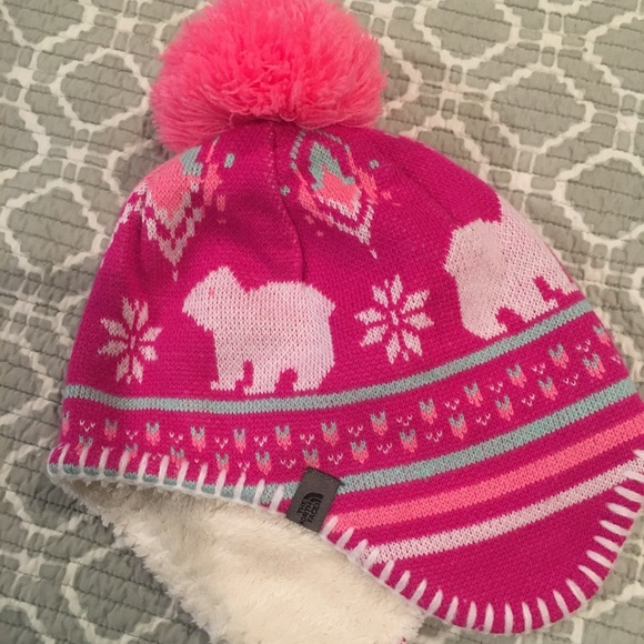 06a10bd481c North face baby girl winter hat