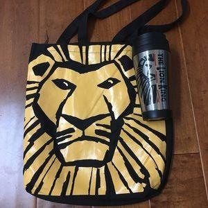 New lion king tote and travel mug