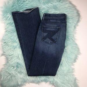 7FAM Flynn Boot Cut Jeans Blue