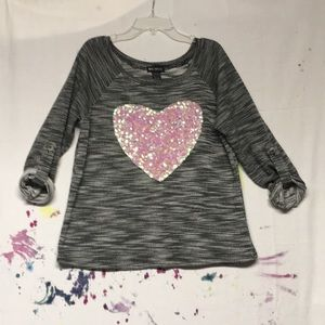 Sweaters - Sequin Heart Sweater