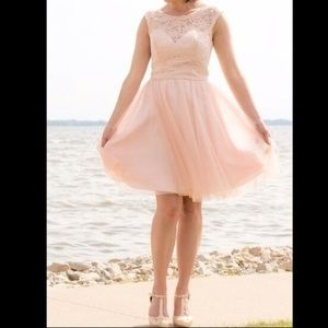 Dresses & Skirts - Pink tulle and lace dress