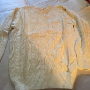 Brooks Brothers snowy white sweater