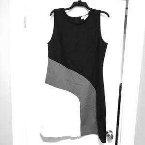 Black, red & white dress