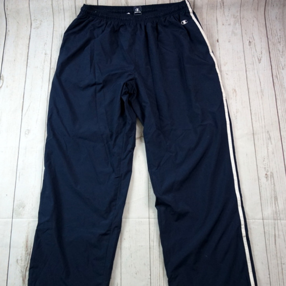 d08e8a98c4a9 Champion Other - Champion Athletic Pants Track Wind Pants Navy XL