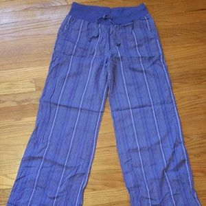 H&M women's pants purple drawstring wide leg