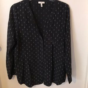 Joie long sleeved black blouse