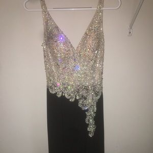 XS black formal dress only worn once.