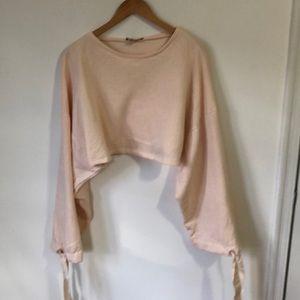 Cropped Wide Sleeve Sweatshirt