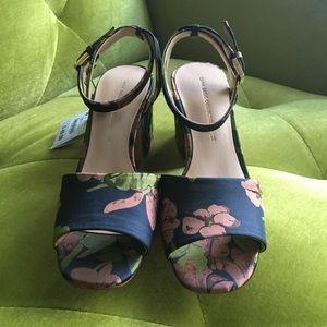 Zara Floral Print Sandal