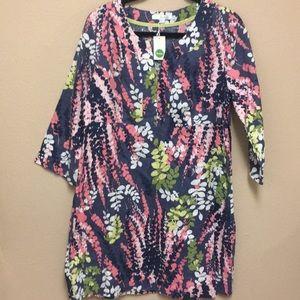 Boden || Linen Floral Dress