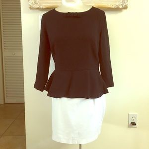 Black peplum top by Forever 21
