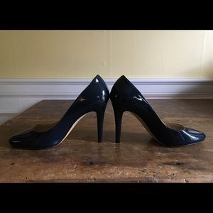 Jimmy Choo Navy Patent Pumps