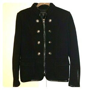 INC Black Pea Jacket in Size Medium