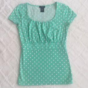Ann Taylor Polka Dot Shirt
