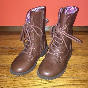 Toddler Girl Combat Boots - Size 9