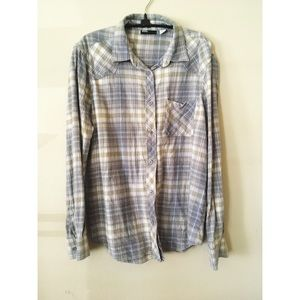 Urban Outfitters BDG Grey Plaid Flannel