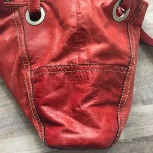 Fossil Bags -  Fossil  Hathaway Glazed Leather Tote Red