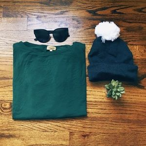 Hunter Green Piko Top