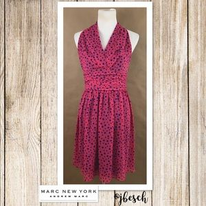 Marc New York Andrew Marc Polka-Dot Dress