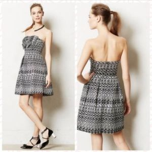 Eva Franco Tinsel Jacquard Cocktail Dress