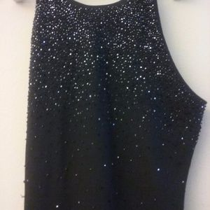 Chelsea Nites Beaded Black Formal Dress Size 12