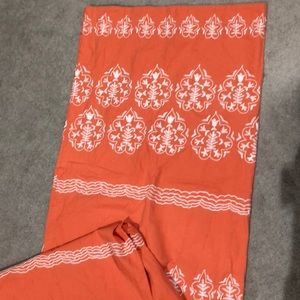 Set of 2 Coral Anthropologie Curtains