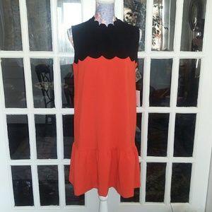 Victoria Beckham Scalloped Dress NWT
