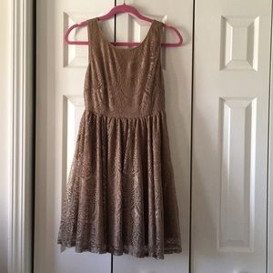 Gold cocktail dress, size small