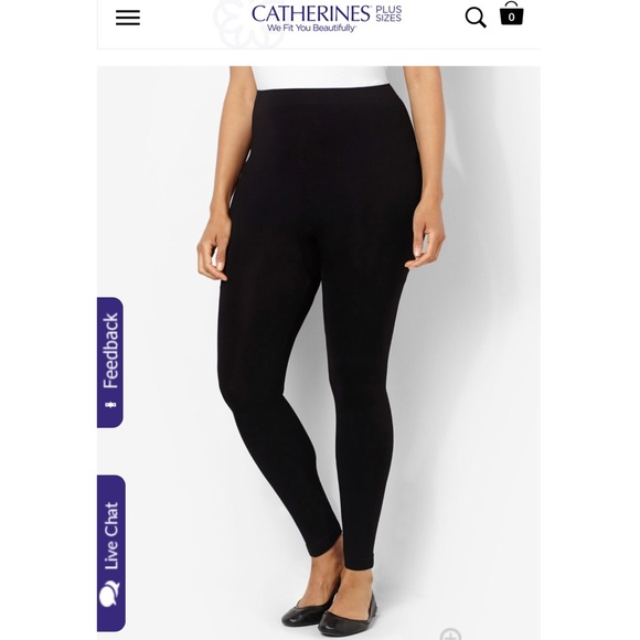 56913d5c0c9a7b Catherines Pants - Catherine's Control Top Black Leggings Size A/B