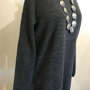 Tweeds Tops - Tweeds grey wool tunic. Medium