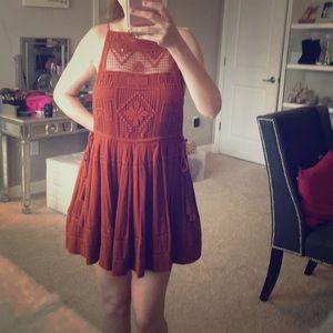 Free people emily dress rust orange size XS