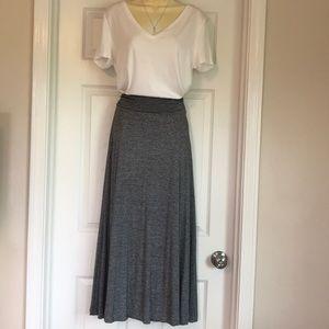 Grey & Black Maxi Skirt