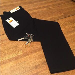 Dana Buchman Slim Straight Black Pants Slacks