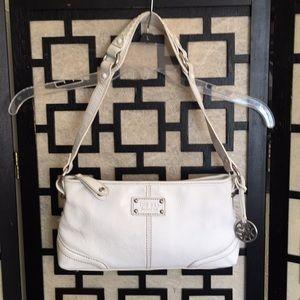The Sak white leather shoulder bag