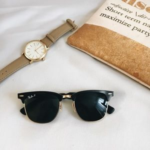 Authentic Black and Gold Ray Bans