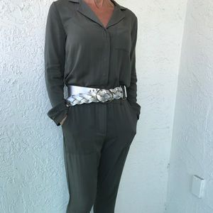 Khaki Jumpsuit Military-Look Forever 21 NWOT